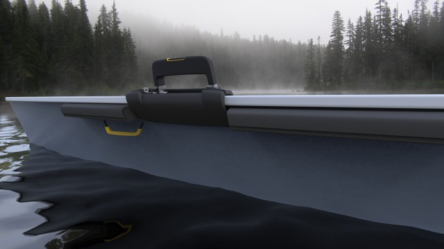 Concept shown from outside of the boat.
