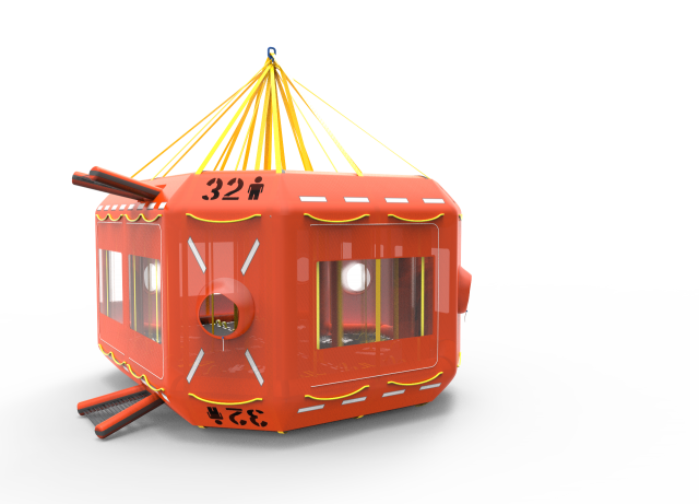 symmetric canopy front corner